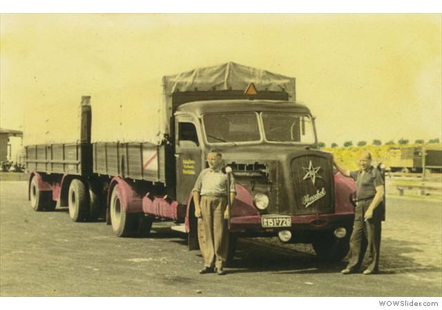 1950 - Der erste LKW eim Henschel mit 140PS